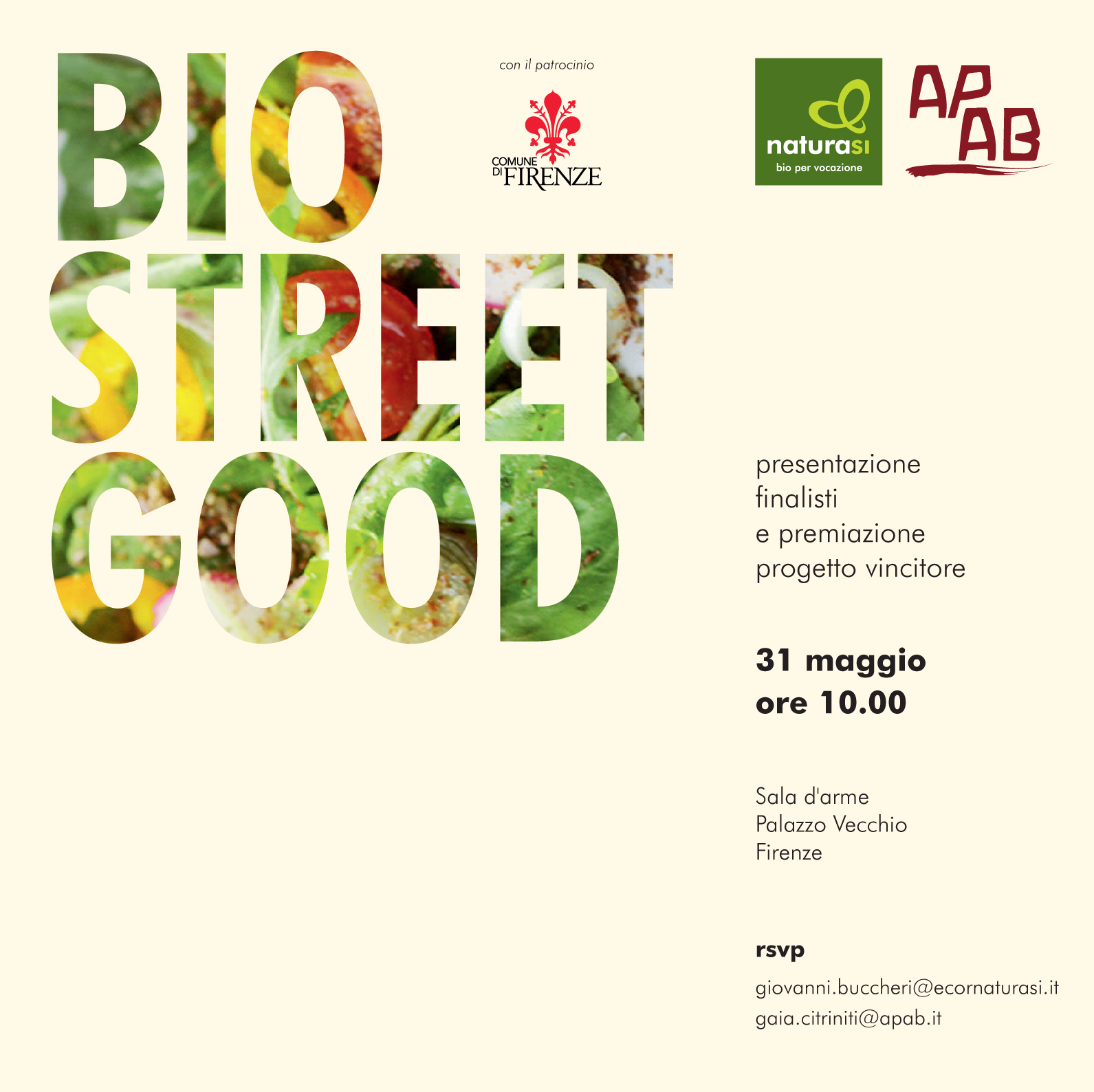 Bio Street Good – Il 31 Maggio 2018 EcorNaturaSì E APAB Premiano Il Miglior Progetto Di Start Up Biologica