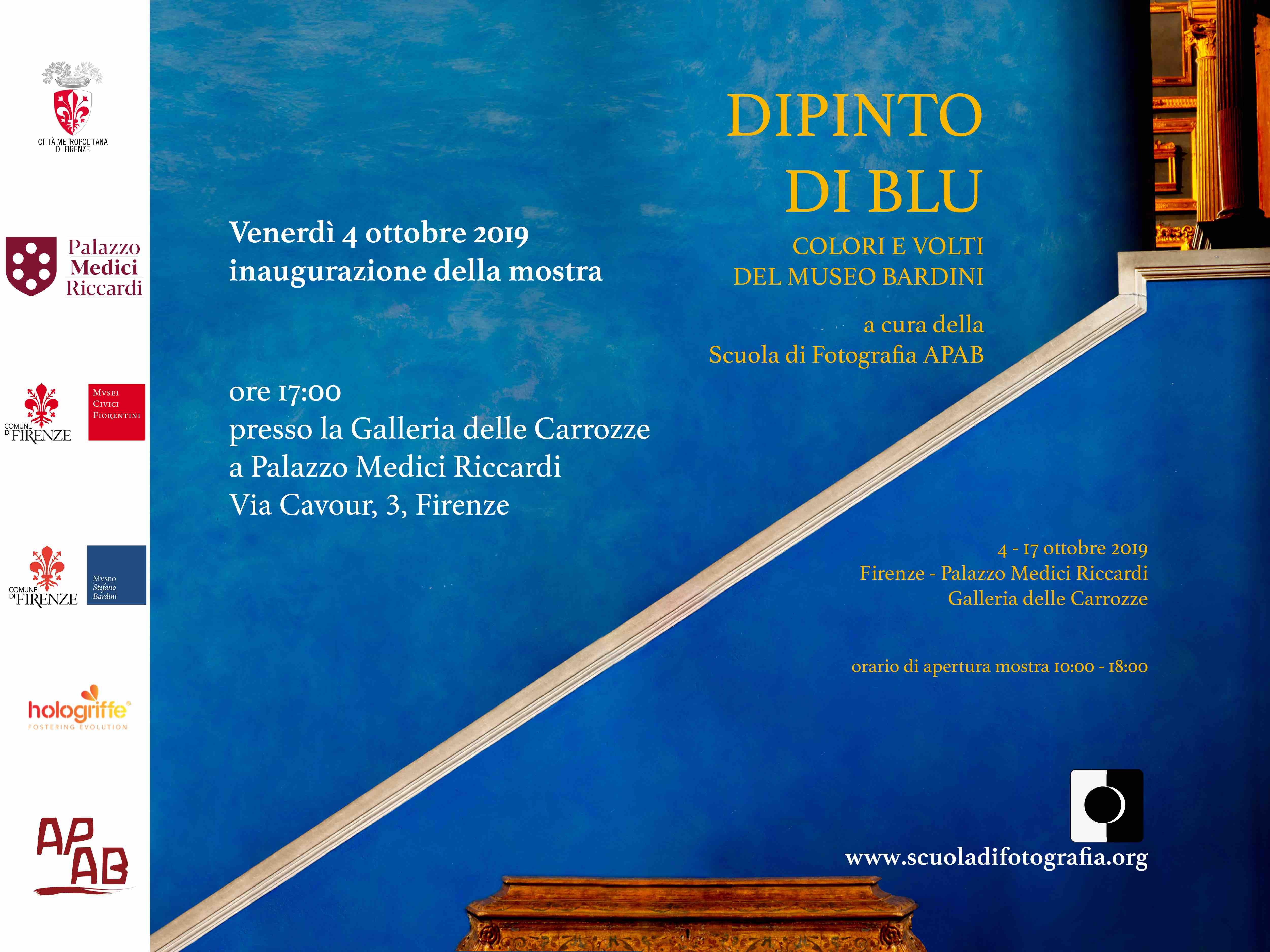 Dipinto Di Blu.  Colori E Volti Al Museo Bardini – Inaugurazione Venerdì 4 Ottobre 2019 A Firenze