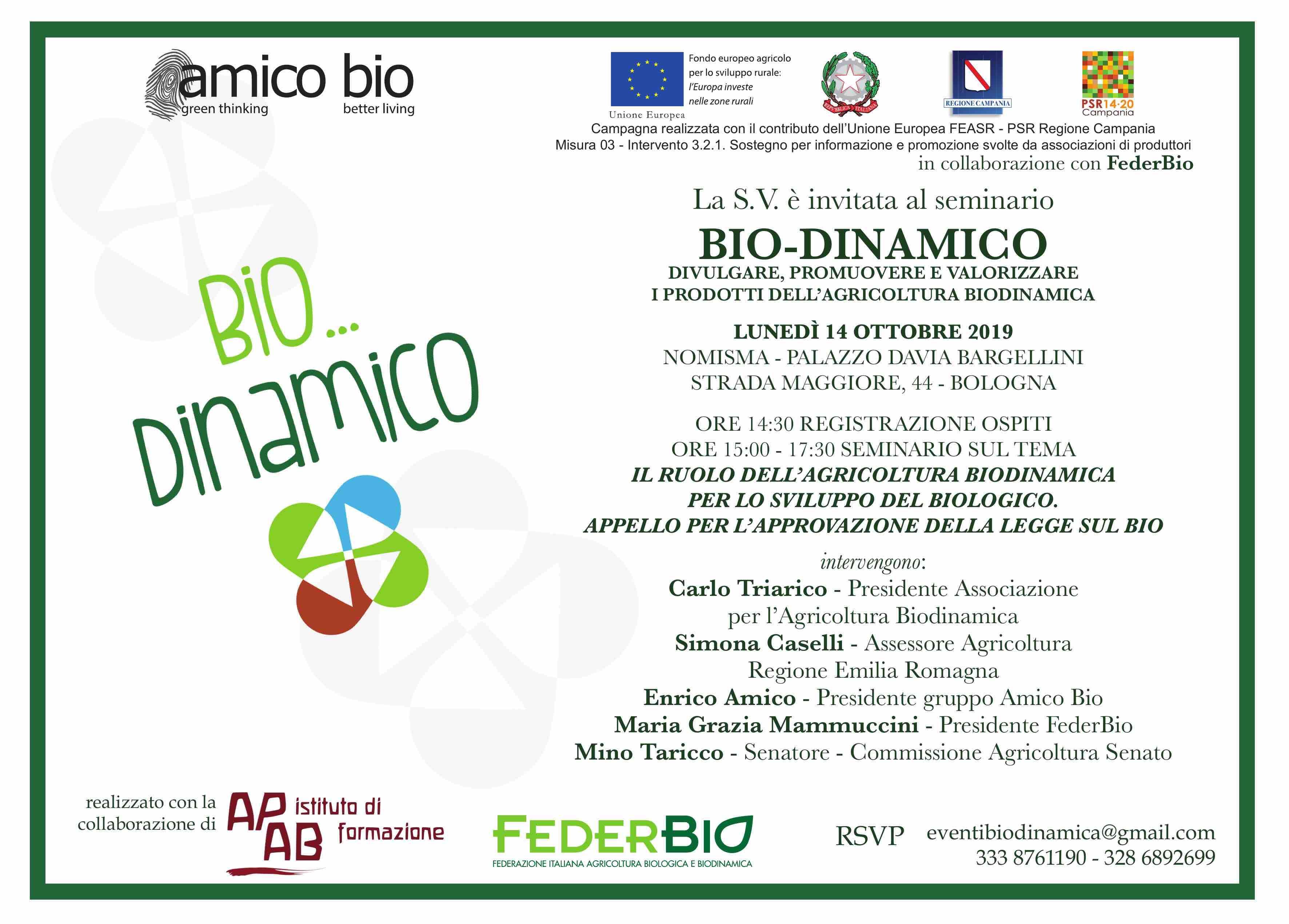 Bio…Dinamico: Quarto Seminario A Bologna Il 14 Ottobre 2019
