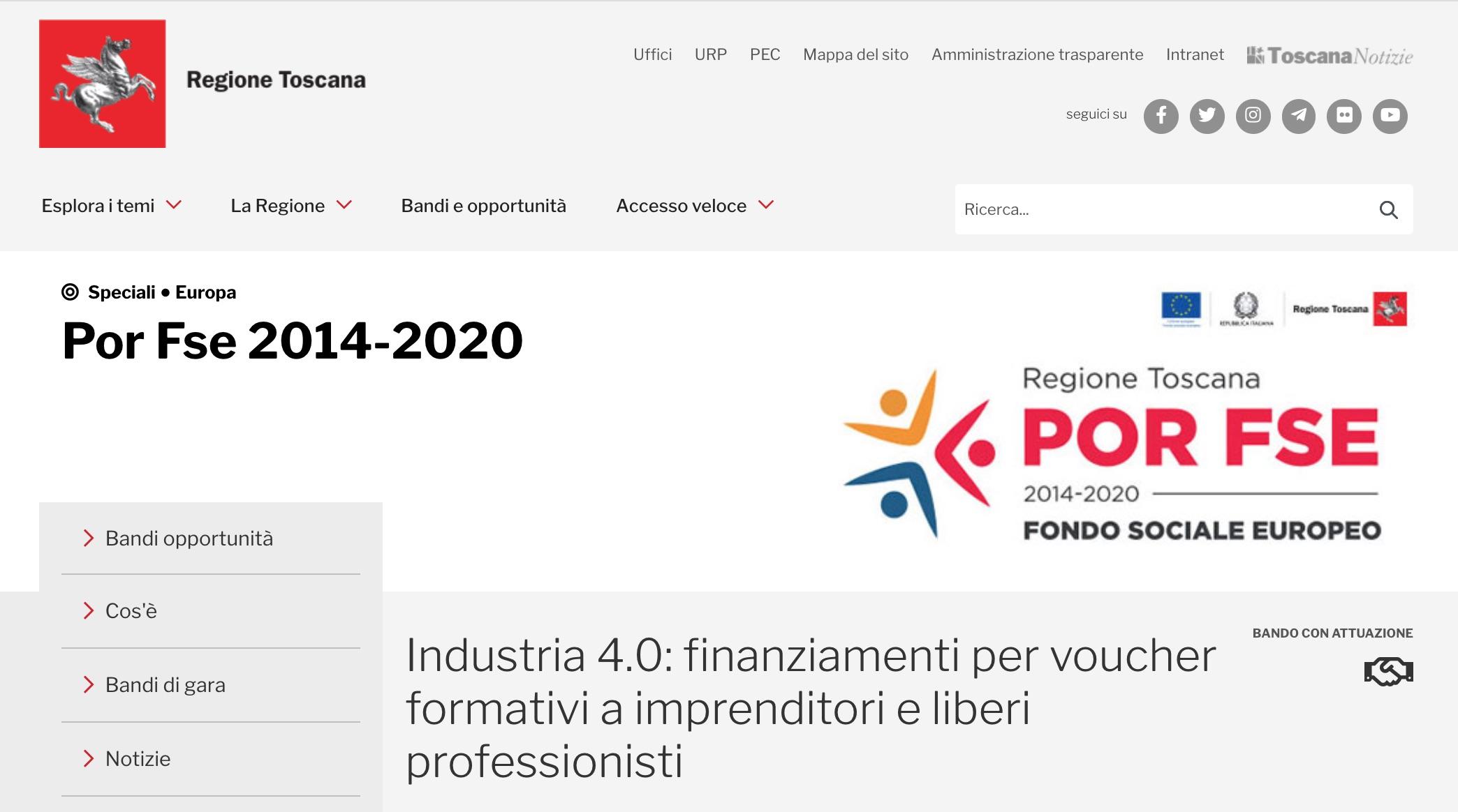 Voucher Formativi, Pubblicato Il Bando Della Regione Toscana