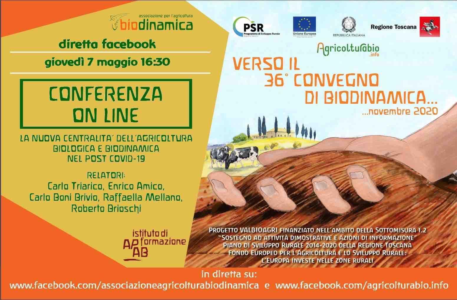 Giovedì 7 Maggio 2020 Conferenza On-line: Bioagricoltura E Pandemia, Quali Risposte?