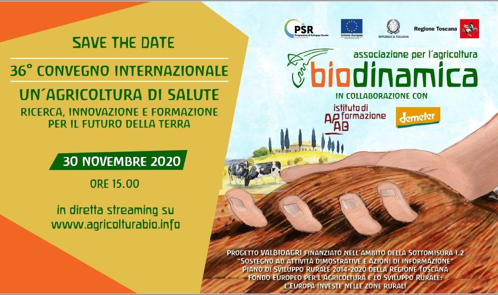 Lunedì 30 novembre il secondo webinar del Congresso internazionale di biodinamica