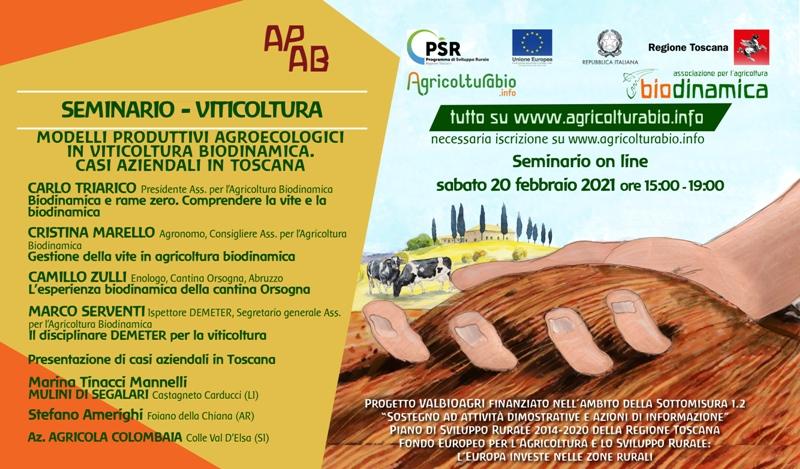 Settimane Tematiche Di Formazione, Il 20 Febbraio Webinar Sulla Viticoltura