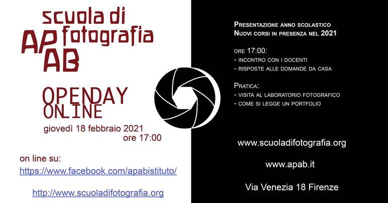 SAVE THE DATE. Giovedì 18 Febbraio L'open Day Della Scuola Di Fotografia