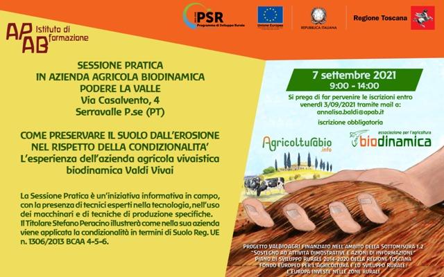 Sessione Pratica Di Formazione Presso L'Azienda Agricola Biodinamica Podere La Valle