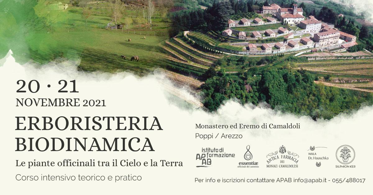 Corso Di Erboristeria Biodinamica, 20 E 21 Novembre